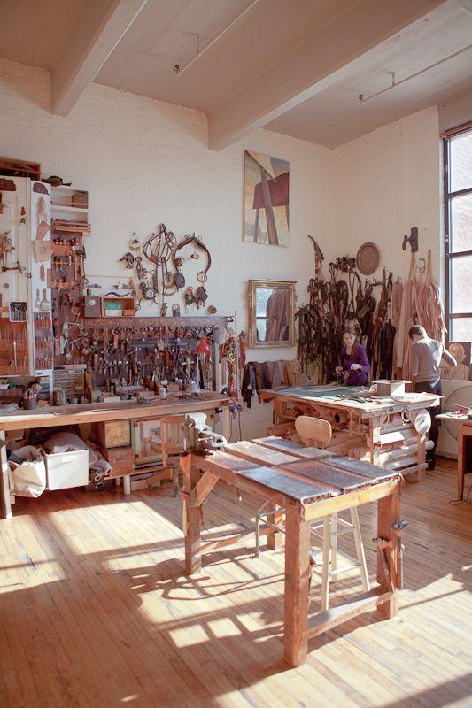 Red Hook, Brooklyn leather workshop