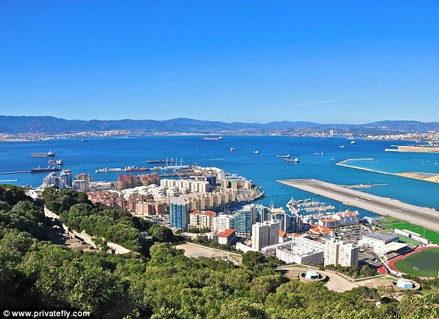A flight to Gibraltar Airport, according Patrick Jephson: 'Every arrival an adventure, thanks to airspace restrictions and critically-variable winds. And what a dramatic setting - Africa, Europe and The Rock: the antidote to boring bus-stop airline flights'