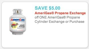 High Value $5.00 off 1 AmeriGas Propane Exchange or Purchase Coupon! - Raining Hot Coupons