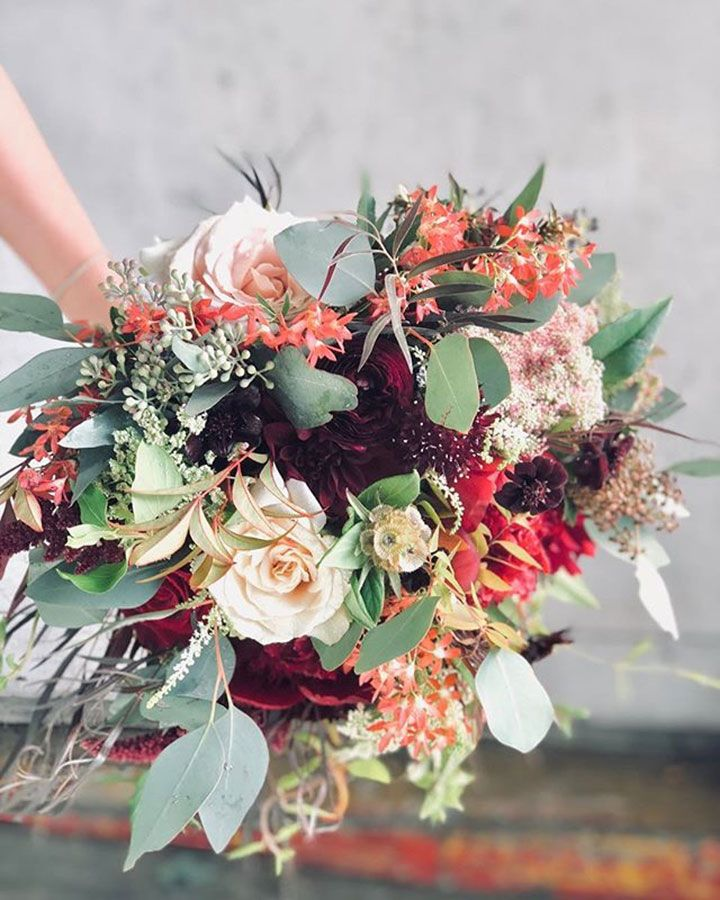 26 Wedding Bouquets for Winter Brides & Their Maids ~ Nancy Liu Chin Designs' bouquet is too pretty for words
