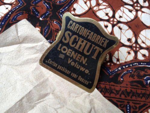 Papierklem Papierfabriek Schut 1930