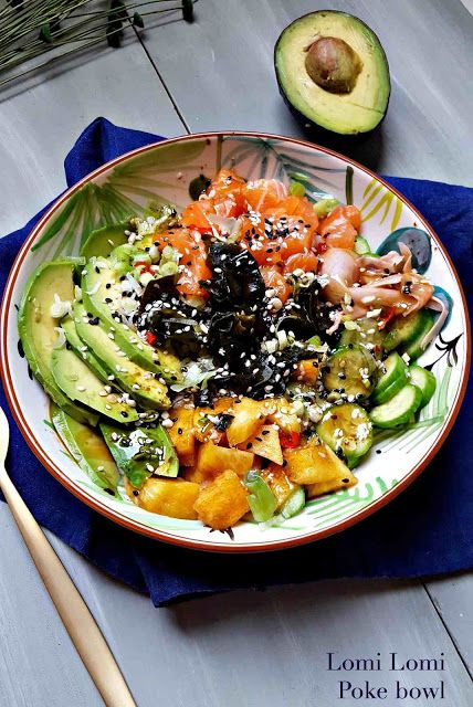 Very Easy...Kitchen: Lomi Lomi Poke bowl : saumon et pêche jaune