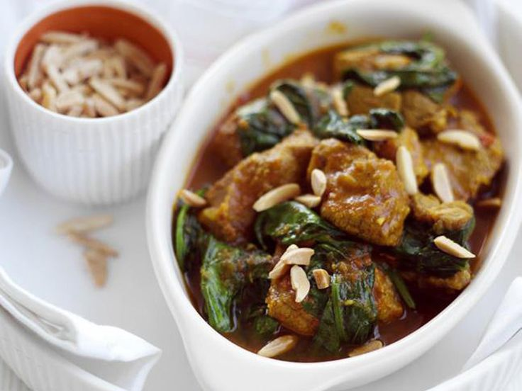 Slivered almonds and lemon zest add an extra dimension to this savoury, satisfying curry.