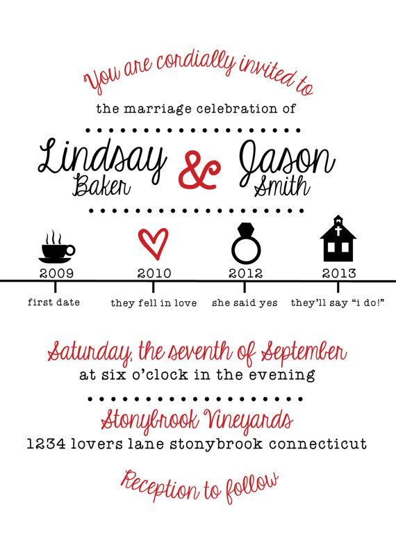 74 best images about wedding ideas on pinterest | timeline, Wedding invitations
