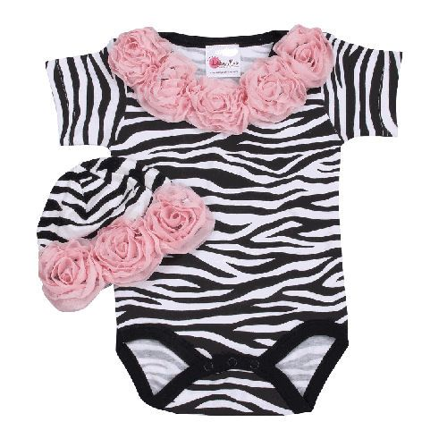 Girls Clothing: couture clothing for baby girls, baby onesies, pinafore sets, rhinestone baby tees, newborn sleeper setsZebras Rose, Pink Zebras, Baby Shower Gift, Animal Prints, Girls Clothing, Baby Girls, Baby Clothing, Baby Gift, Baby Stuff