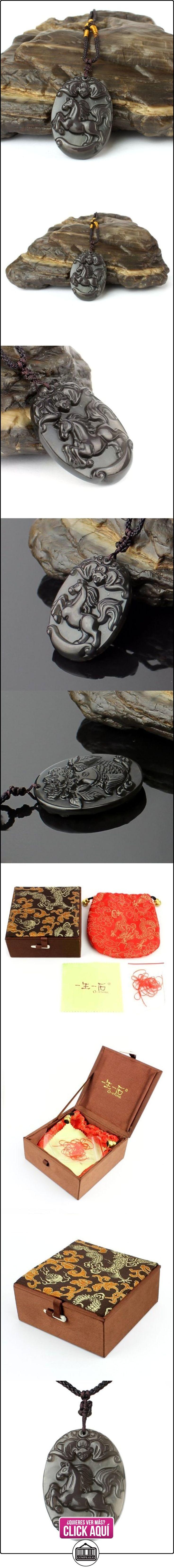 O-stone zodíaco chino serie colgante de obsidiana hielo negra ojo arco iris caballo 3A piedra protectora  ✿ Joyas para mujer - Las mejores ofertas ✿ ▬► Ver oferta: http://comprar.io/goto/B00BNUHALI