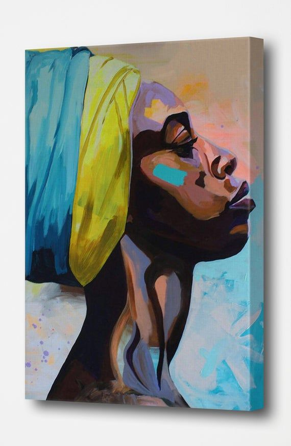 African Princess Canvas Posters Oil Painting Picture Printed For Wall Art Decor Home Living Bedroo Modern Abstract Wall Art Art Canvas Art Prints