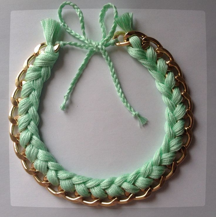 Mint Braided Necklace