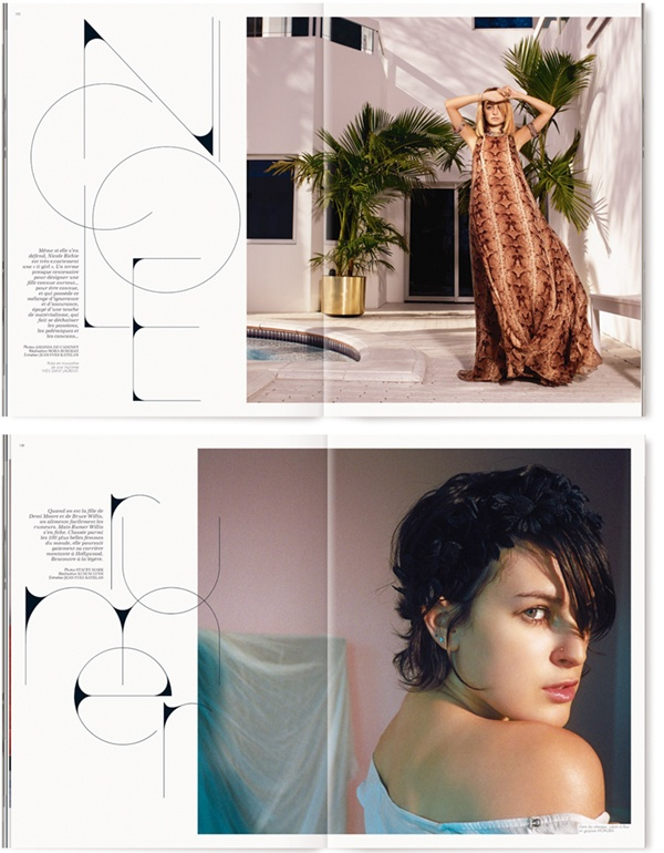 Art direction & design of special biannual edition of French ELLE, by Non-Format. Features & editorial spreads employ the typeface Heroine, which was created specially for the magazine.