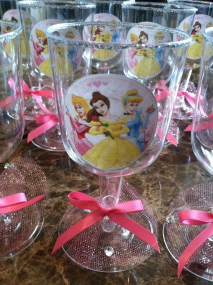 Disney princesses Party GOBLETS Cups/ Decorations/ by BabyForever, $20.00