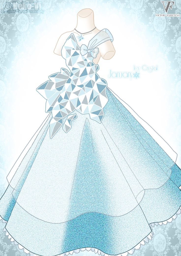 Icy Crystal - January by *Neko-Vi on deviantART