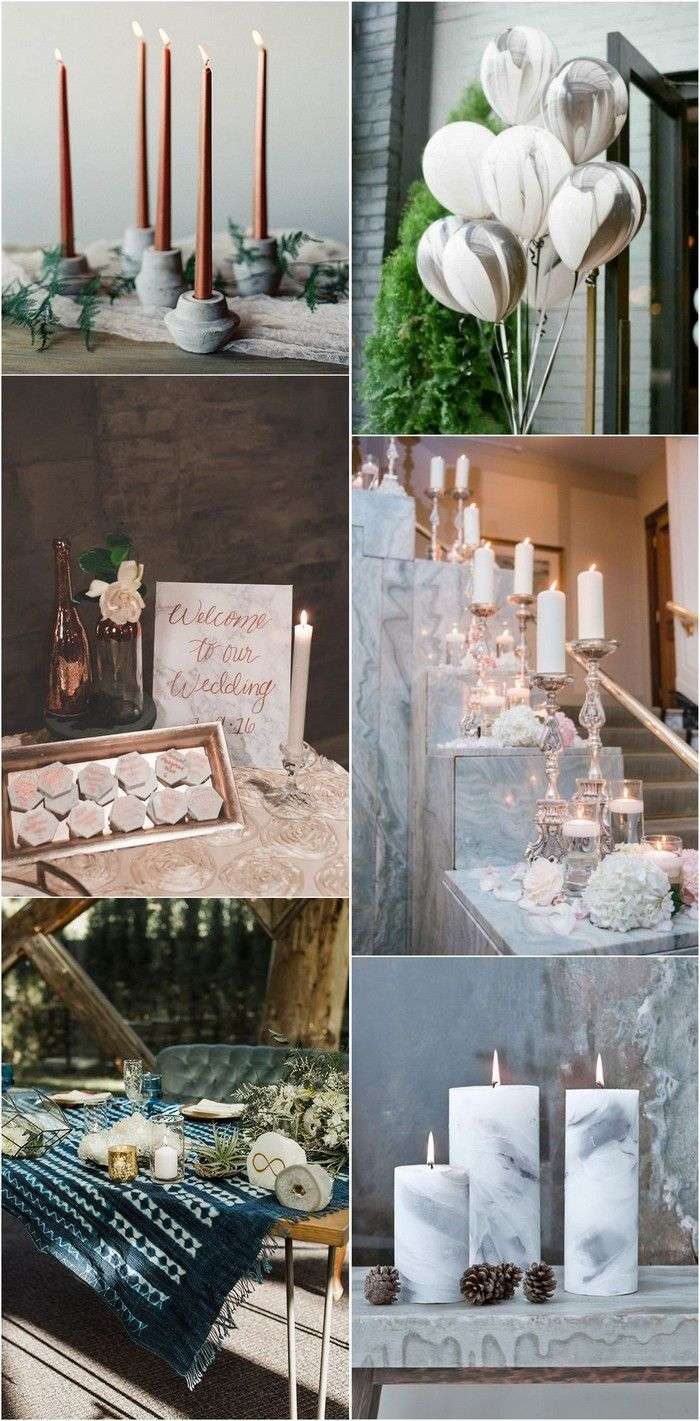Wedding room decoration ideas 2018   Gorgeous Marble Wedding Ideas for  Trends  Wedding