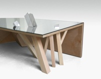 TABLE MIROIR / MIRROR TABLE by Felix Guyon , via Behance