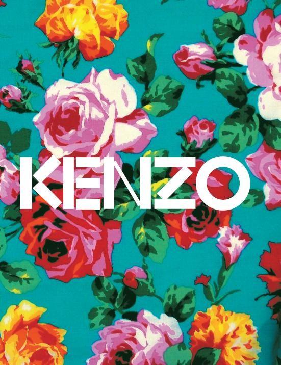 kenzo flowers #typographie