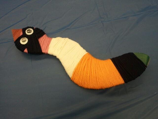 yarn snake craft shared at dig into crafts workshop dig