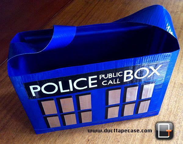 duct tape bag: Idea, Tardis Duct, Ducks Tape, Tape Tardis, Doctors Who Tardis, Duct Tape Bags, Duct Tape Pur, Dr. Who, Tardis Bags