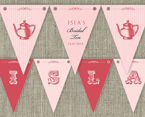 Bridal Tea  High Tea traditional Party Bunting by SladeStudios, $12.50