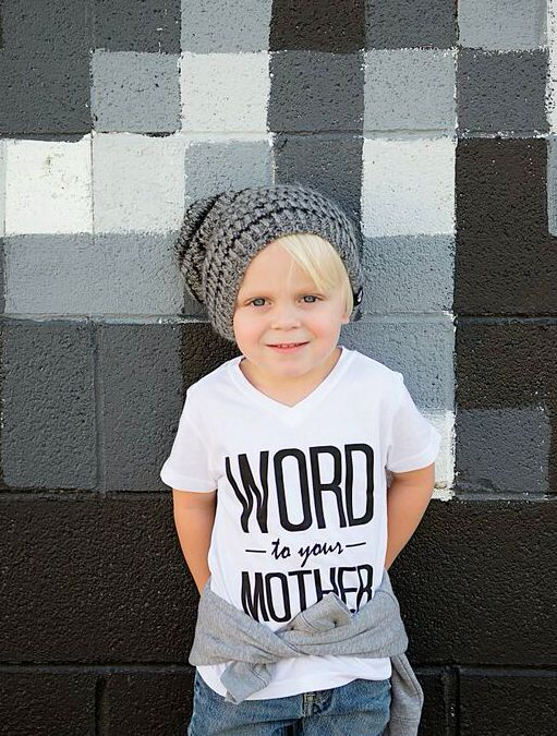 Word to Your Mother Kids' Graphic T-Shirt