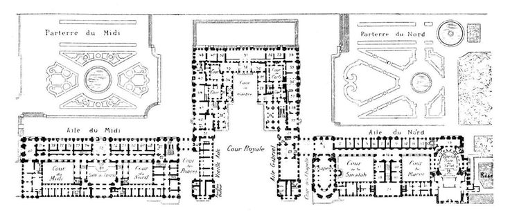 93 best images about historic floor plans on pinterest for Versailles house floor plan
