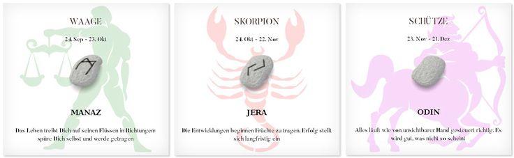 Runen Tageshoroskop 18.4.2017 #Sternzeichen #Runen #Horoskope #waage #skorpion #schütze