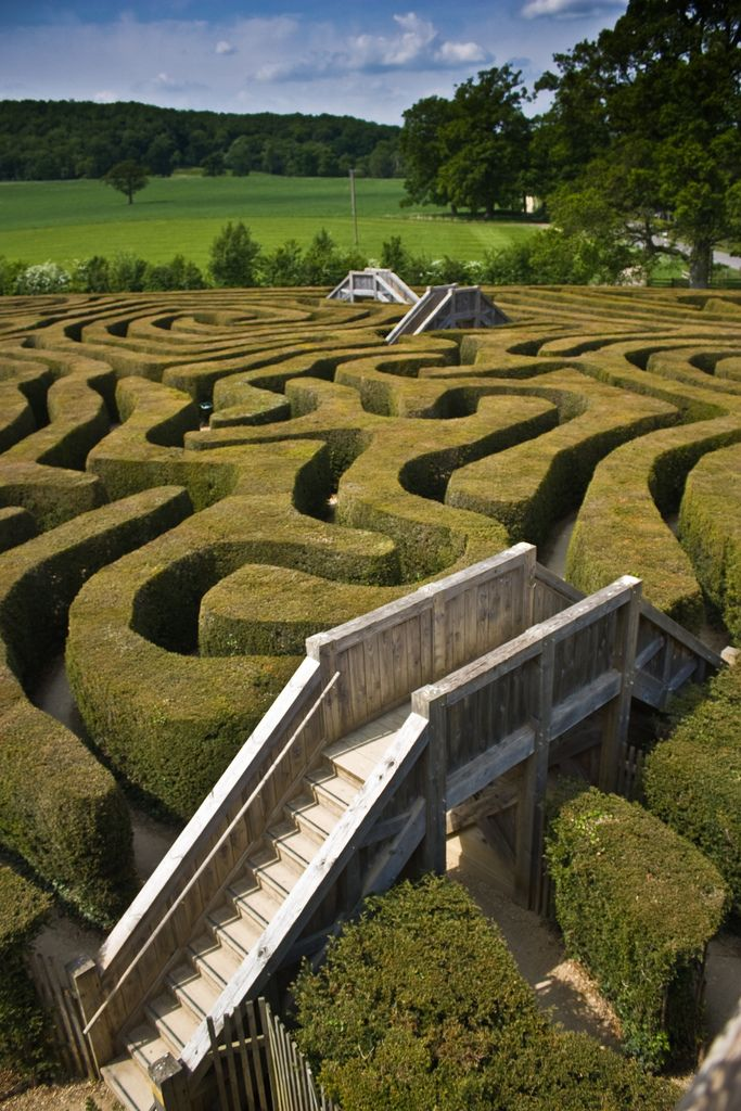 Areial Views Garden Designs Labyrinth on
