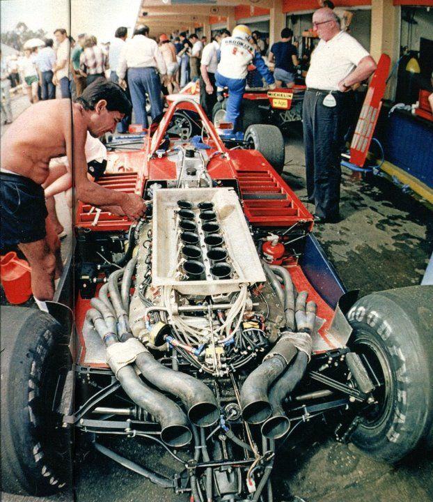 Niki Lauda,s Brabham met Alfa-Romeo V 12 motor. GP van Argentinie in 1979.    #Rides Dream Machines multicityworldtravel.com We cover the world Hotel and Flight Deals.Guarantee The Best Price