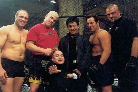 Randy Couture, Tito Ortiz, Jet Li e Chuck Liddell - Bastidores do filme Contra o Tempo (2003)