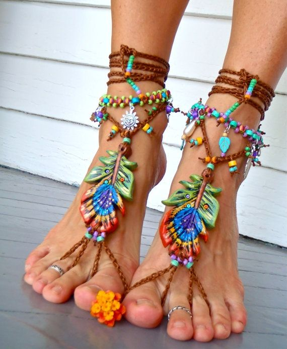 Crocheted Barefoot Sandals by sheliajackson.castillo