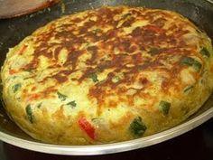 TORTILLA DE VERDURAS AL HORNO   INGREDIENTES     -1 Pimiento Rojo -2 Pimientos Verdes -3 Calabacines -3 Berenjenas -2 Cebollas Pequeñas o 1 Grande -1 Bandeja de Champìñones -Sal -Pimienta -8 Huevos -Mantequilla -Pan rayado -1 taza de leche pequeña   Leer más: http://m.soniksm.webnode.es/products/tortilla-de-verduras-al-horno-light/