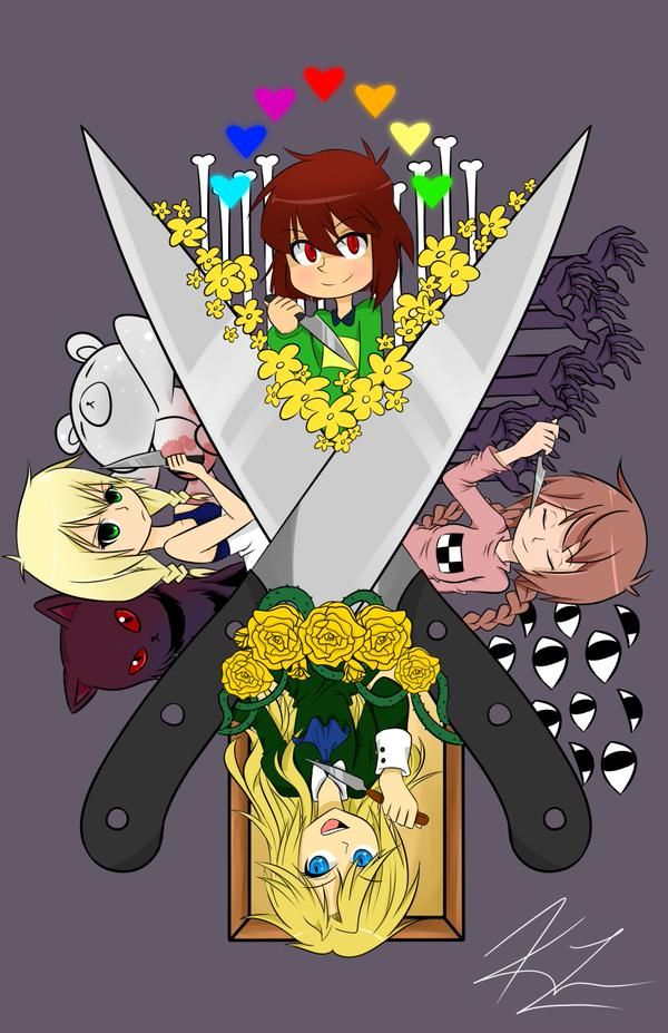 Undertale - Yume Nikki -The Witch's House - Ib (Chara, Madotsuki, Viola, Mary)