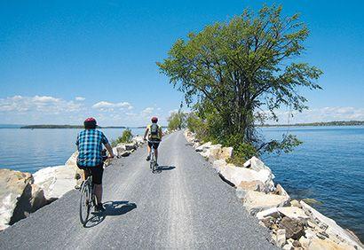 À vélo dans la vallée du #lac #Champlain #velo