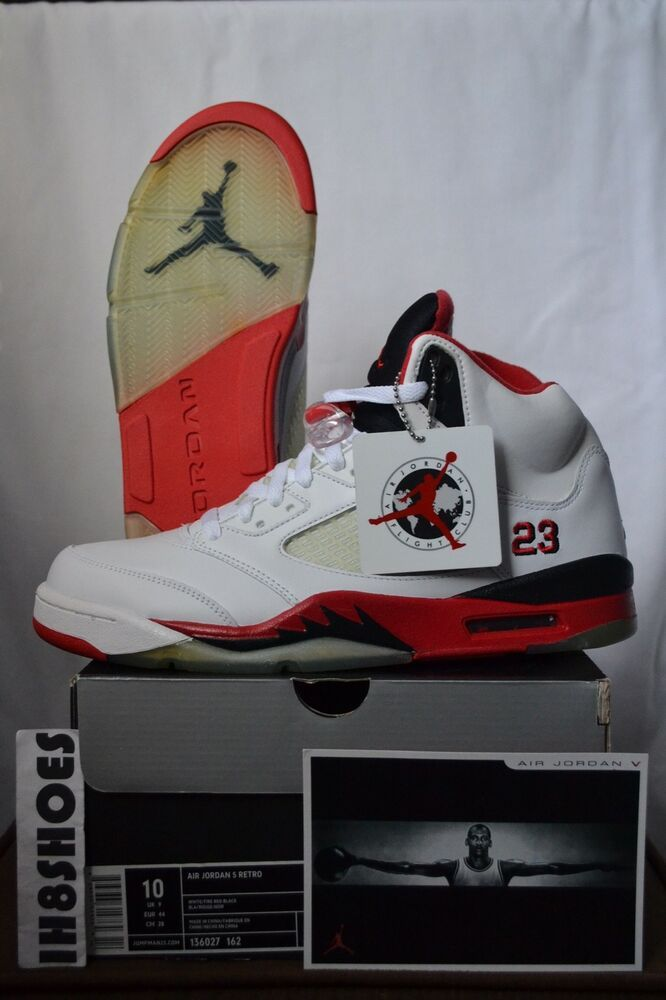 "huge selection of 42127 72bab eBay Sponsored) Nike Air Jordan 5 Retro 2006 ""Fire Red"" 136027 162 ..."