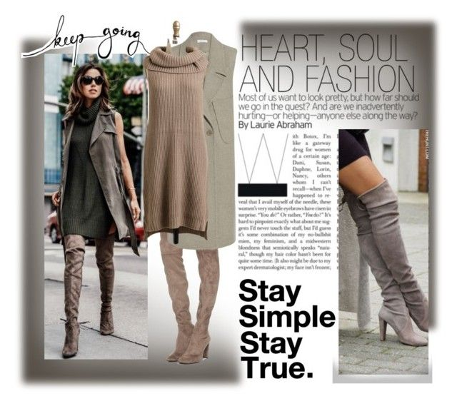 """""""Stretch Thigh High Boots"""" by b-bakai ❤ liked on Polyvore featuring beauty, Stuart Weitzman, Carven and BB Dakota"""