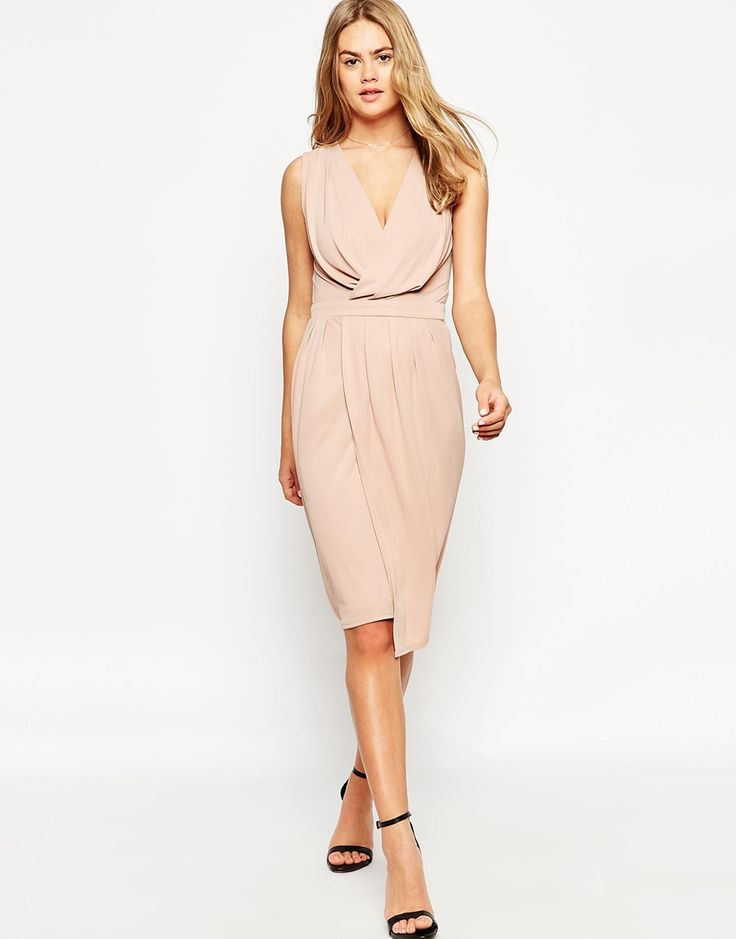 ASOS Blouson Wrap Jersey Dress