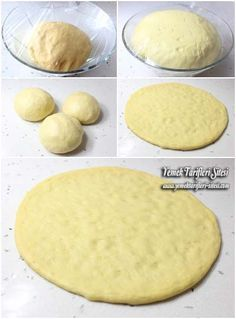 Evde Pizza Hamuru / 5-5,5 su bardağı un, 1 paket instant maya (10 gr), 1 yemek kaşığı toz şeker, 1,5 su bardağı ılık süt, Yarım su bardağı sıvı yağı, 1 adet yumurta, 1 tatlı kaşığı tuz.