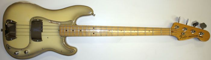 Shapely Fender Bass Guitar For Sale