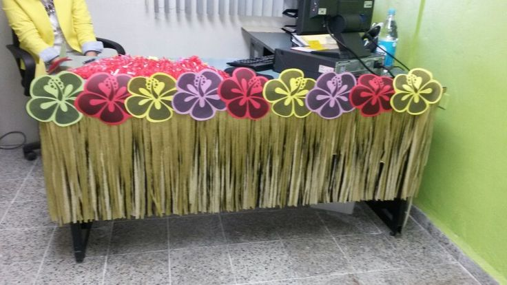 Hawaiano hapoy b day feliz cumplea os fiesta party for Adornos para escritorio de oficina