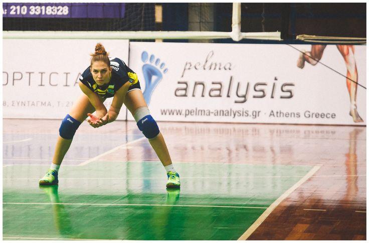 Volley bride in action