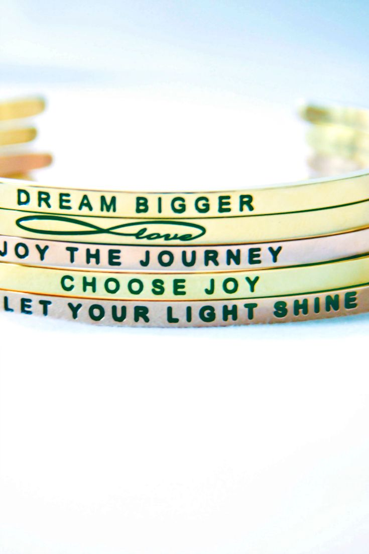These Inspirational stacked bracelets are the perfect gift!