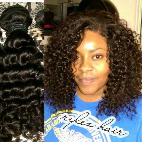 Sew In With Partial Leave Out Brazilian Natural Curly