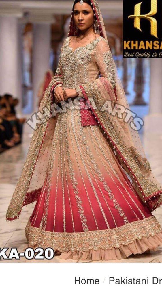 0ec858f8b672 Indian/Pakistani embrioded Net designer Inspired bridal dress/party wear |  eBay