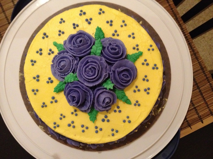 Cake Decorating Classes At Joann Fabrics : Final Cake: Wilton Method Class 1 Jo-Ann s Fabrics, Grand Rapids, MI #wiltoncontest cake ideas ...