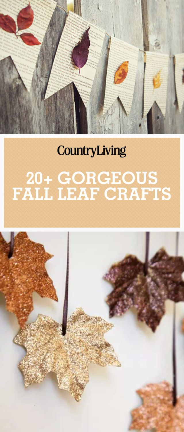 Save these gorgeous fall leaf crafts for later by pinning this image! Follow Country Living on Pinterest for more.