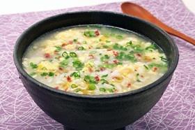 ふわふわ卵とカリカリ梅の雑炊