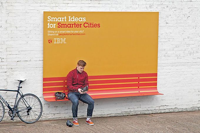 Billboards are meant to distract and annoy, to draw attention and to not fit in. In its recent on-street ad campaign, IBM promotes its People for Smart Cities Program with billboards that are even more invasive.