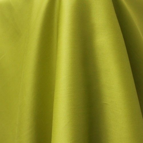 A soft, delicate, but opaque, organic cotton sateen in a vibrant lime green. It's lightweight, beautifully smooth against the skin and has a lovely lustre and drape.