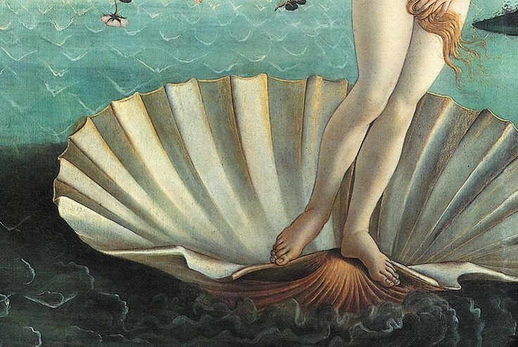 Sandro Botticelli Narodziny Wenus, detal | ok. 1485,<br /> 172,5 × 278,5 cm, tempera na płótnie, Galeria Uffizi, Florencja
