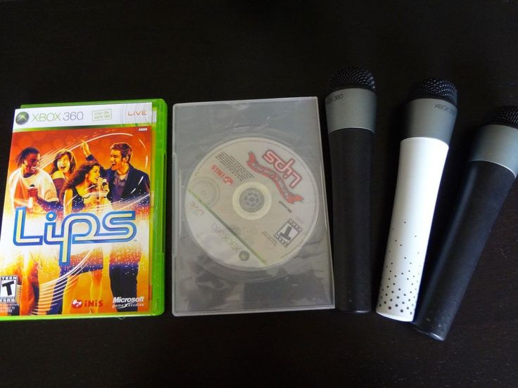 Xbox 360 *LIPS ORIGINAL +NUMBER ONE HITS* +3 Wireless Mics Microphones Official