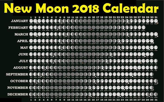 moon phases calendar 2018 lunar calendar free printable