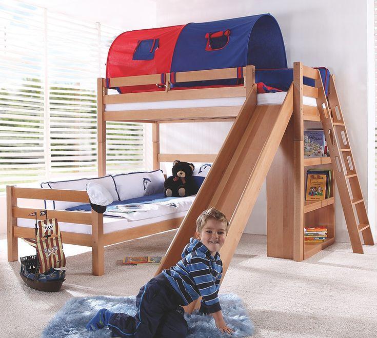 e combuy angebote etagenbett set 4 dreams in buche massiv natur lackiert - Einfache Hausgemachte Etagenbetten